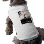 Camiseta/torre Eiffel del perrito Playera Sin Mangas Para Perro