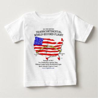 Camiseta transcontinental del vuelo
