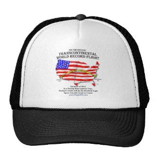 Camiseta transcontinental del vuelo gorras de camionero