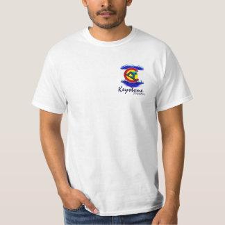 Camiseta trapezoidal del valor del snowboarder del