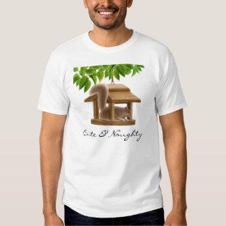 Camiseta traviesa de la ardilla playeras