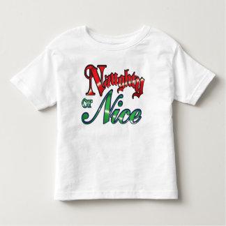 Camiseta traviesa o Niza del niño del navidad
