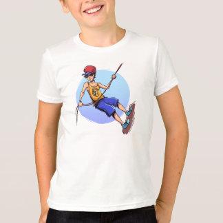 camiseta traviesa que ofrece al escalador fresco camisas