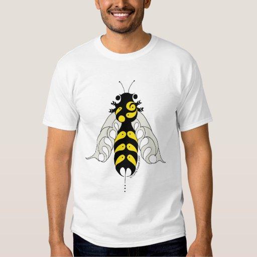 Camiseta tribal de la abeja del estilo poleras