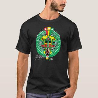 Camiseta tribal de la máscara de la discografía