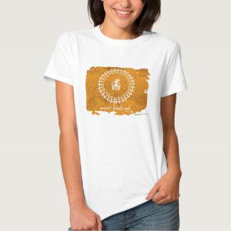 Camiseta tribal del arte - blanco playera