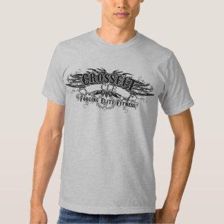 Camiseta tribal del diseño (logotipo oscuro con la poleras