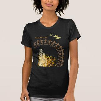Camiseta tribal del diseño - negro playeras