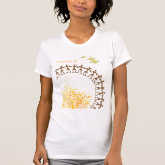 Camiseta tribal india del blanco del diseño playera
