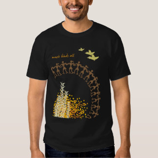 Camiseta tribal india del diseño - negro poleras