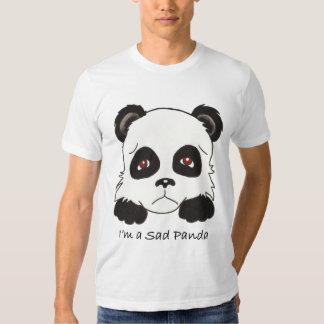 Camiseta triste de la panda poleras