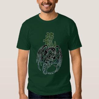 Camiseta trital del tatuaje del dragón polera