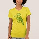 Camiseta tropical de la luz del pájaro