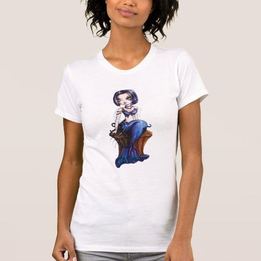 Camiseta tropical de la sirena de la sirena de playeras