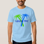 Camiseta tropical de las palmeras de la diversión remera