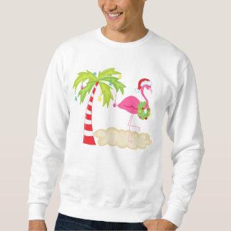 Camiseta tropical del flamenco del árbol de navida sudaderas