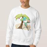 Camiseta tropical del navidad de Santa Pulovers Sudaderas