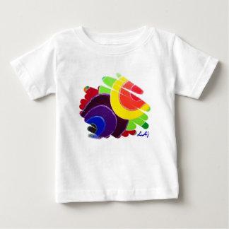 Camiseta tropical del niño de los espirales playera para bebé