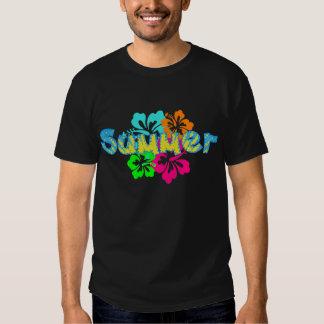 camiseta tropical del verano del hibisco remeras