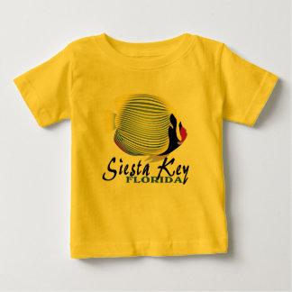 Camiseta tropical dominante del bebé de los