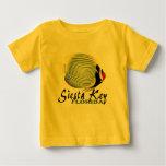 Camiseta tropical dominante del bebé de los polera