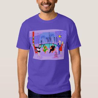 Camiseta tropical retra de la fiesta de Navidad Playera