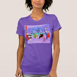 Camiseta tropical retra de la fiesta de Navidad Remera