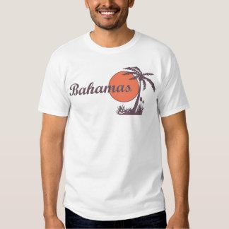 Camiseta turística retra de la palma de Bahamas Playera