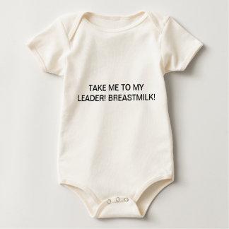 Camiseta u oncie del bebé con título divertido mameluco