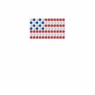 Camiseta única de la bandera americana - bandera