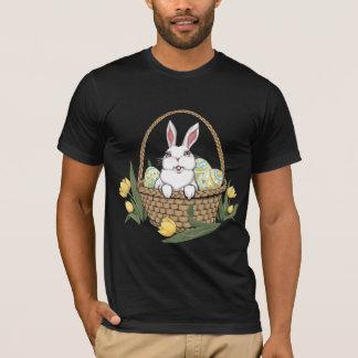Camiseta unisex de la cesta del conejito de pascua