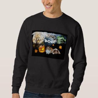 Camiseta unisex de Sheltie Halloween Sudadera Con Capucha