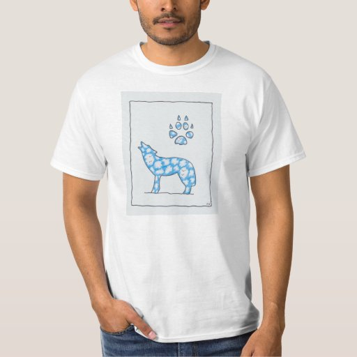 Camiseta unisex del lobo del cielo del parque playeras