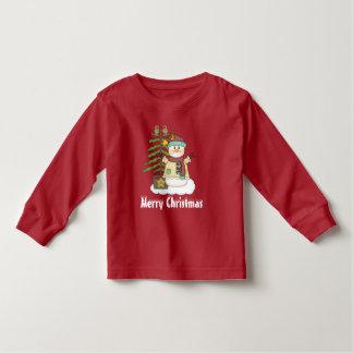 Camiseta unisex del muñeco de nieve del navidad y