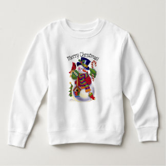 Camiseta unisex del niño del muñeco de nieve del