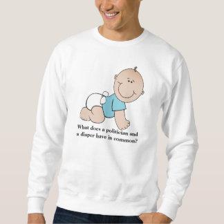 Camiseta unisex del político y del pañal sudadera con capucha