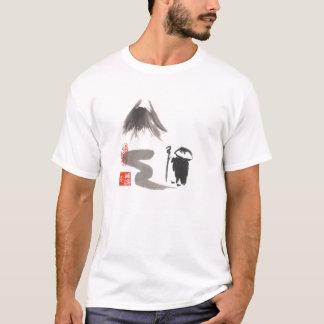Camiseta unisex para hombre del peregrino del zen