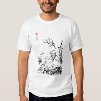 Camiseta unisex para hombre Meditating del samurai Remera