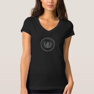 Camiseta urbana del negro del consulado