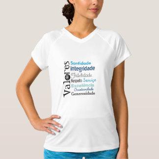 Camiseta Valores Azul feminina