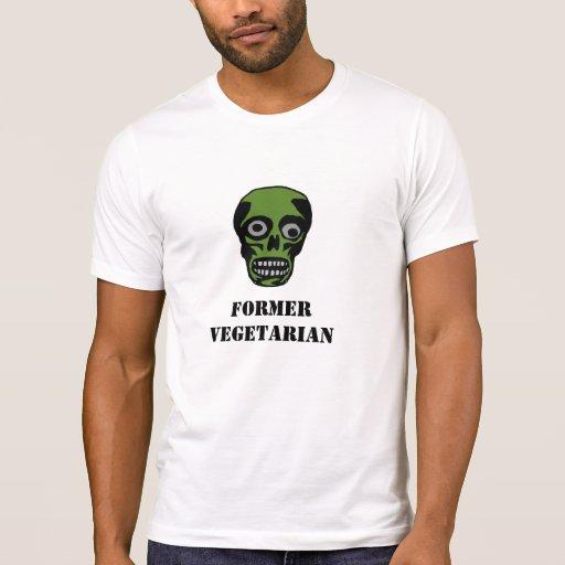 Camiseta vegetariana anterior del zombi playera
