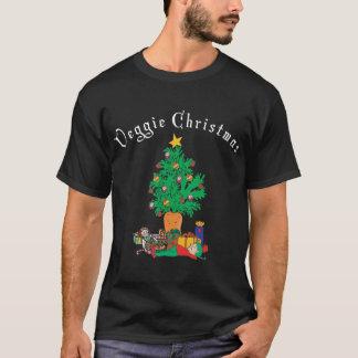 Camiseta vegetariana de la oscuridad de Chirstmas
