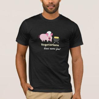 Camiseta vegetariana del cerdo