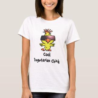 Camiseta vegetariana fresca de las señoras del
