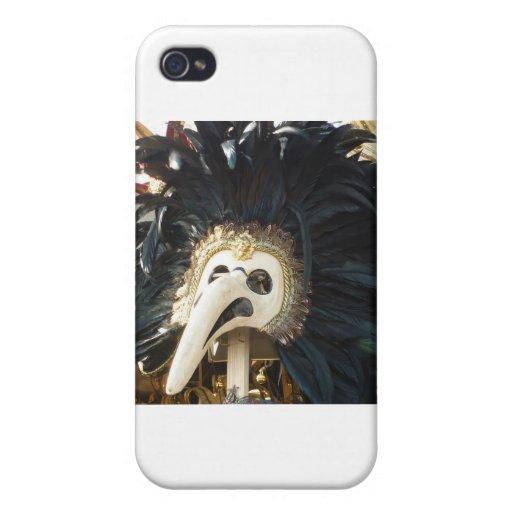 Camiseta veneciana negra de la máscara iPhone 4/4S carcasa