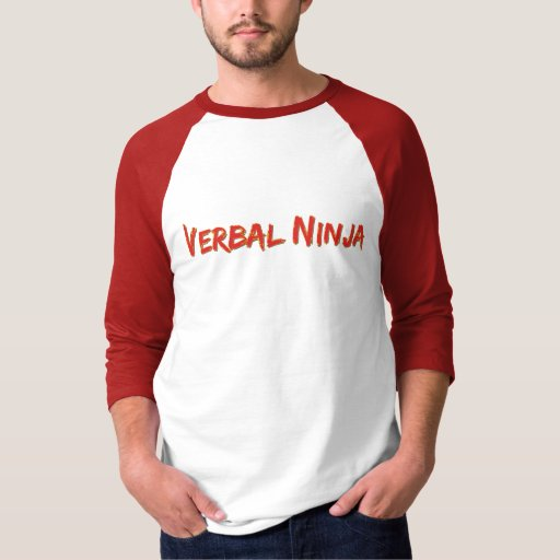 camiseta verbal del ninja poleras
