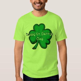Camiseta verde clara del trébol del día del St. Playeras
