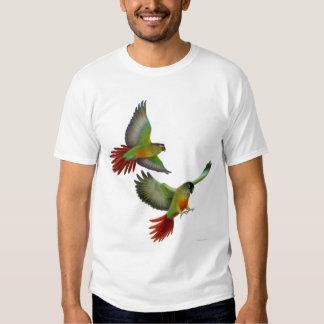 Camiseta verde de Cheeked Conures Camisas
