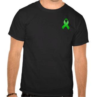 Camiseta verde de la cinta del bolsillo de la conc