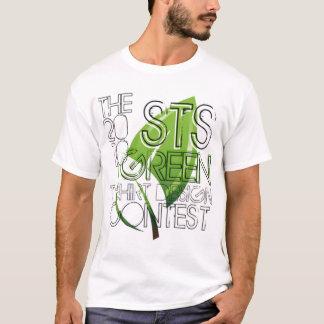Camiseta verde de la competencia de Desgin de la